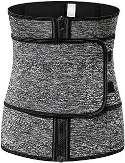 Milisten Weight Loss Belt Waist Trainer Belt Sports Workout Shapewear Waistband Body Shapers for Lady Grey 1pc (Size S)