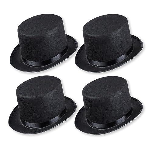 234254280049c Schramm Onlinehandel 0603 - Sombrero de copa para disfraz (para adultos