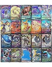 100Pcs Card Set Cartoon Compatibel Voor Pokemon Art Card Set, Speelkaart Kinderen Trading Cards Met 20Vmax (17V + 3Vmax), Diverse Kaarten Rare Kaarten Collectie Cadeau Voor Kids Anime Fans