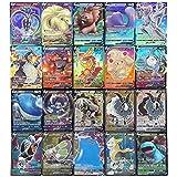 BST-MAI Juego de 60 Tarjetas de Pokémon, Tarjetas de Juego de Dibujos Animados para Niños, Tarjetas de Intercambio GX con 17V de Pokémon GX Y 3Vmax de Mega Pokémon, Niñas