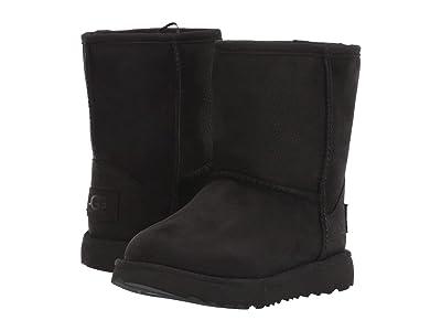 UGG Kids Classic Short II Waterproof (Toddler/Little Kid) (Black) Girls Shoes