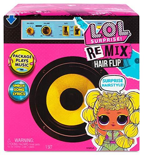 L.O.L. Surprise Remix Hair flip Muñecas - Descubre 15 Sorpresas, Música y Revela el Pelo de la Muñeca - Accesorios a la Moda, Coleccionable - Edad: 4+. Incluye Conjunto, Letras de Canciones y Más