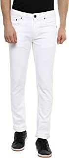AMERICAN CREW Men's Straight Fit White Jeans