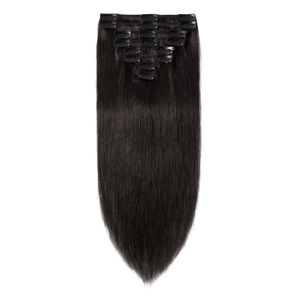 Human Hair Clip in Extensions Remy Straight online shopping 10