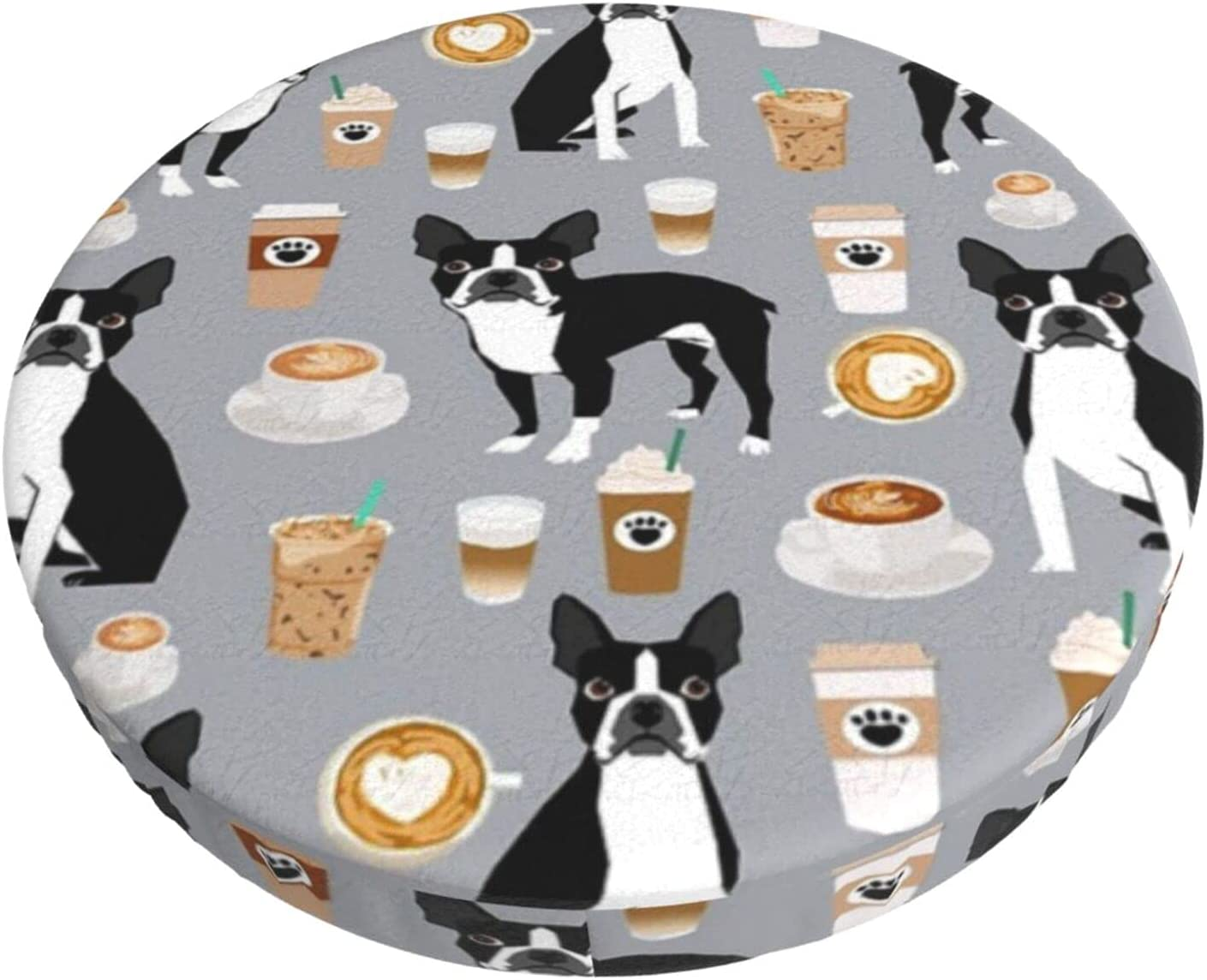 Super beauty product restock quality top Boston Terrier Coffee Dog Cupuccino Bar Club Round Max 86% OFF Stool Lounge
