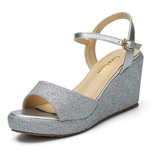 silver wedge sandals wide width buy