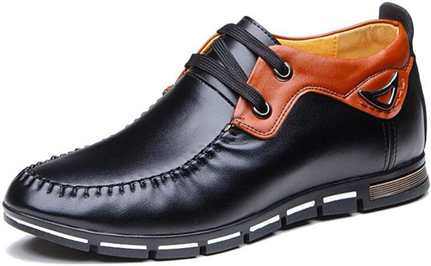 Men's shoes Leather Casual shoes Stealth 6 Cm Increase shoes