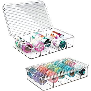 mDesign Organizador de manualidades – Fantástica caja de plástico ...