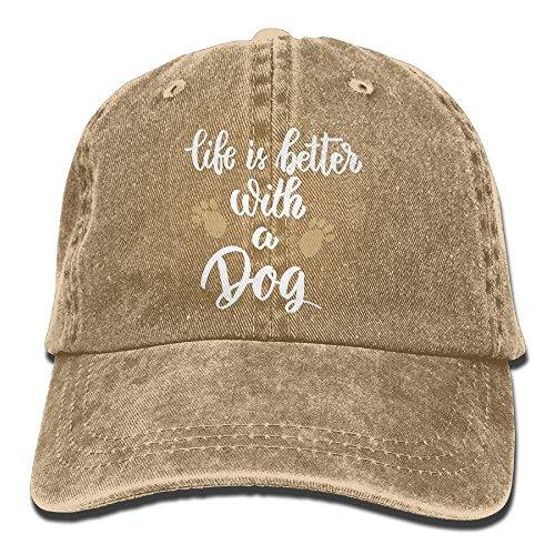 Jssmao Life Is Better With A Dog-1 Vintage Jeans Baseball Cap für Damen und Herren