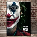 BGFDV Filmstar Clown Kunst Wand Ölgemälde Leinwand Poster