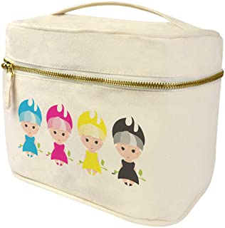 Large 'Colourful CMYK Girls' Canvas Toiletry Bag / Vanity Case (TE00008237)