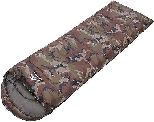Jakiload Enveloppe de Montagne Froide Polaire à Capuchon Loisirs de Plein air Camping Pause déjeuner Camouflage Sac de Couchage Sac de Couchage Adulte (Couleur   Camouflage - 1.2KG)