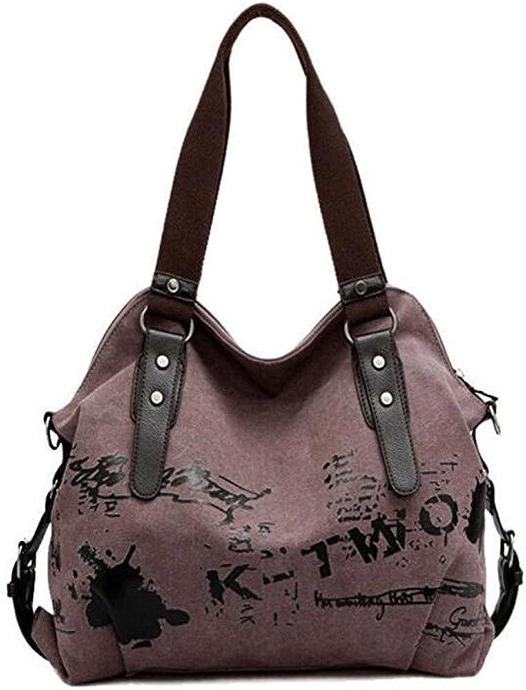 Canvas Handbag For Women Weekend Travel Shopping Canvas Big Bag Work Bag Tote Cross Body Shoulder Bag