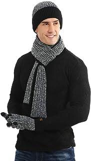 MEIYIN 3 peças/conjunto masculino e feminino outono inverno dupla face cor correspondente cachecol chapéu luva