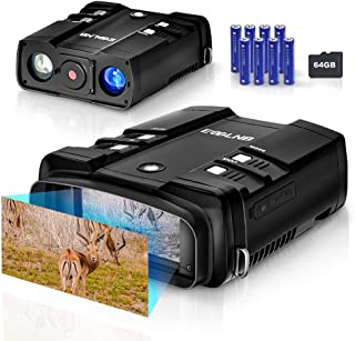 "ESSLNB Night Vision Binoculars 1080P Image 3.6-10.8X31mm Night Vision Goggles with 64G TF Card 4"" LCD Infrared Binoculars ..."