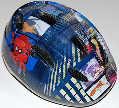 Fahrradhelm für Kinder 51-55cm Spider-Man, Turtles, Cars, Princess, Minnie Mouse 4-12 Jahre (Spider-Man)
