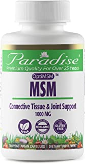 Paradise MSM. 100% OPTIMSM Original Worldwide Patented Ingredient. - 100% Naturally Extracted - No Harsh Chemicals or Solv...