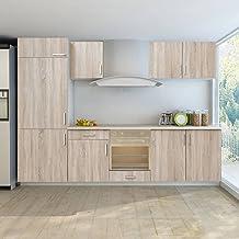 Köksskåp köksskåp enhet inbyggt kylskåp 7 delar ekutseende