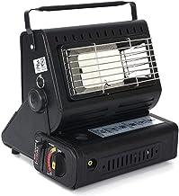 DXQDXQ Estufa for Usar Al Aire Libre Portátil Estufa de Calefacción de Gas Proposito Doble Calentador de Gas for Interior y Exterior Pesca Acampar (Color : Black)