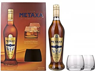 Metaxa 7 Stern mit Geschenkverpackung mit 2 Gläsern 1 x 0.7 l
