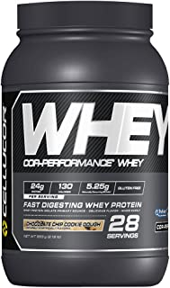 CELLUCOR COR-Performance Protein Powder Chocolate Chip Cookie Dough | 100% Whey Isolate | Gluten Free + Low Fat Post Workout Muscle Growth Drink for Men & Women | 28 Servings