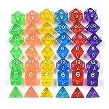 Set Multicolor Transparente Juego de rol de 12 Caras Dados D12 Nuevo Nueva Marca Multicolor ngzhongtu 10 Unids