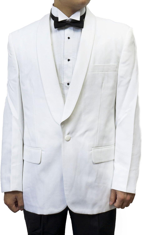 Broadway Tuxmakers Mens White Shawl Collar Tuxedo Suit Black Pants