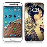 HTC One M10 Hülle, Fubaoda Karikatur-Mädchen-Eis Künstlerische Malerei-Reihe TPU Case Schutzhülle Silikon Case für HTC One M10