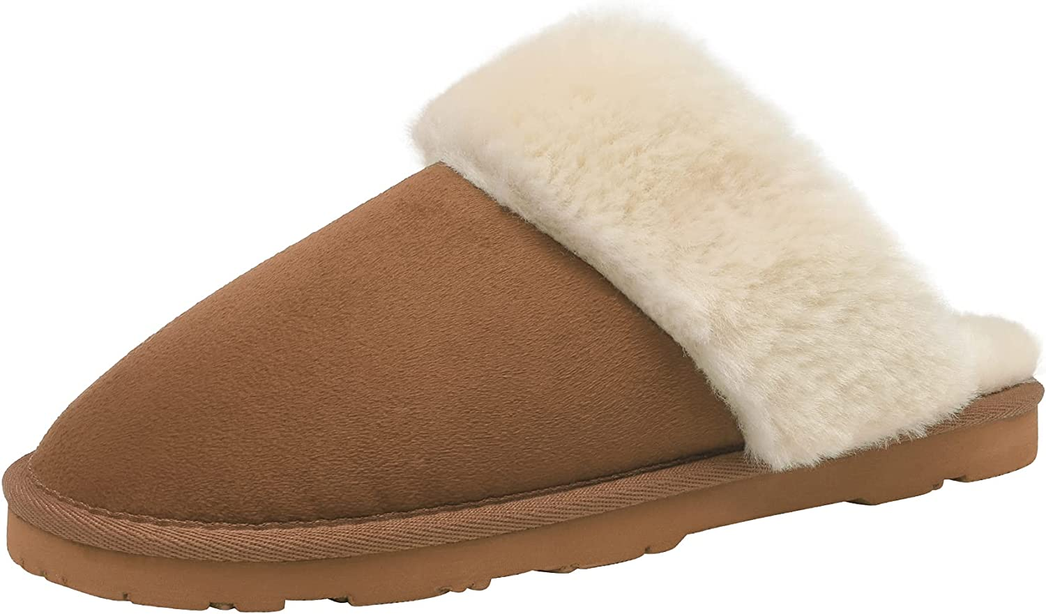 DREAM PAIRS Women's Sheepskin Slip House Mail order cheap On Slippers Indoor Outd Import