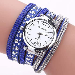 Wristband Women's Wrist Watches Ladies Series Girls Watch Female for Women Women's Watch Full Drill Rivet Winding Table,Co...