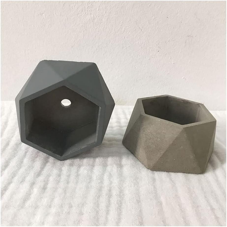 Flower Plant Pot Cement Polygon Succulent Max 87% OFF Mini Gray 2 Nippon regular agency