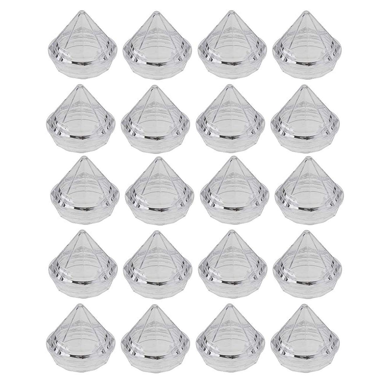 うれしい修理工肖像画CUTICATE 20個入 5g プラスチック製 空のサンプルボックス サンプルポット 詰替え容器