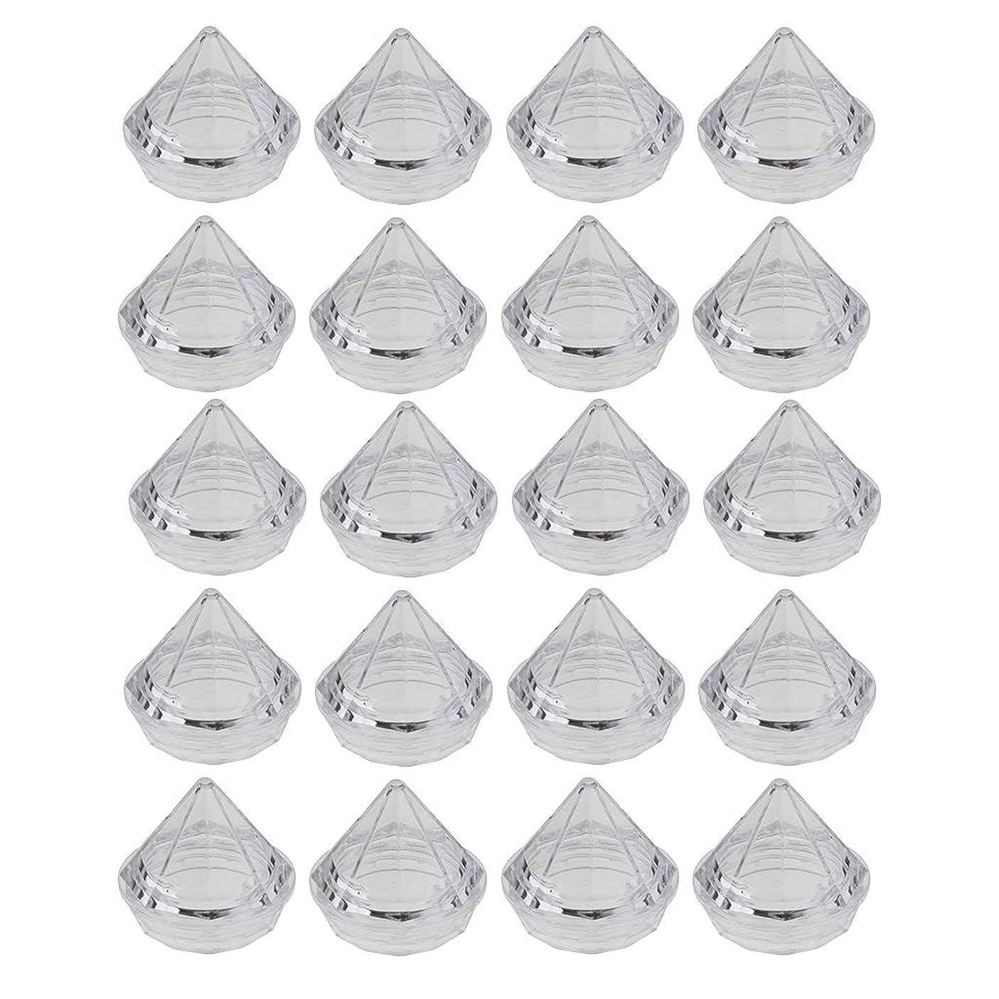 ランク取り扱いセンサーCUTICATE 20個入 5g プラスチック製 空のサンプルボックス サンプルポット 詰替え容器