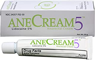 AneCream5 – Anorectal Pain Relief with Lidocaine, 5%, 30 Grams