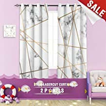Big datastore home Blackout Curtain, Abstract Art Backdrop Background Black and White Block Branding Card Contemporary 55 x 63 inch Grommet Curtains Kids Bedroom,