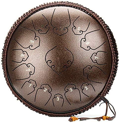 Tamburo in Acciaio, Instrumento de tambor de percusión del tambor de la lengua de acero 15 notas de 14 pulgadas de bolsa con palillos, para la educación musical Concierto Mente de la mente curativa yo