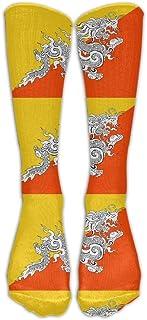 National Bhutan Flag Comfortable Over-the-calf Stockings Compression Socks