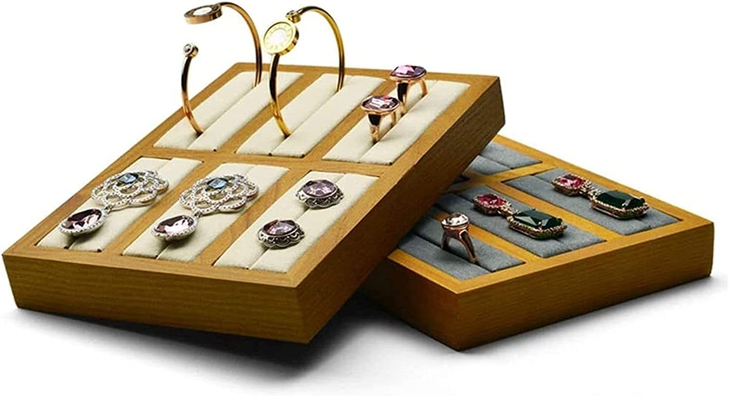 Huahua Jewelry Milwaukee Mall Towers Organizer Stan Solid Wood Bracelet Special Campaign