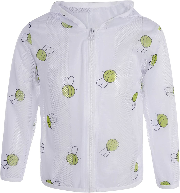 Hansber Kids Girls Sun Protection Hoodie Toddler Lightweight UV Protection Coat Jackets Cute Cartoon Outerwear