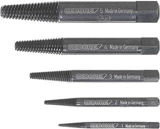 Gedore 8551-55 - Surtido de extractores de tornillos rotos M3-M18