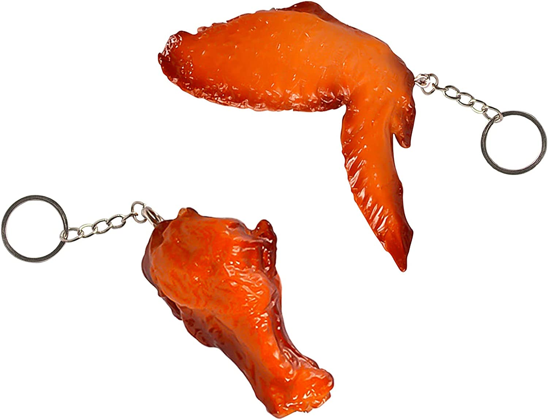 2pcs Imitation Food Superlatite Super-cheap Keychain Grilled Wings Legs Chicken