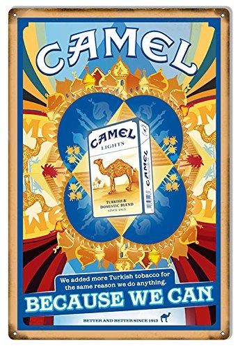 Camel sigarette riproduzione in metallo 12x 18