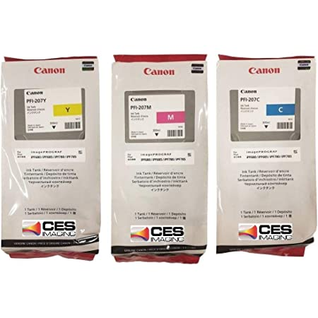 Canon PFI-207 Standard Yield Ink Cartridge Set Colors Only (C/M/Y)