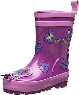 أحذية المطر المطاطية الطبيعية باترفلاي الأرجوانية من كيدورابل مع رباط كعب سحب