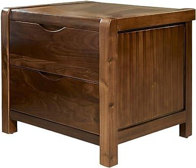 Bedside Tables Solid Wood Bedside Table Black Walnut Bedside Table Locker Bedroom Living Room,Bedroom Furniture (Color : Walnut, Size : One Size)