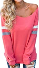 UONQD Woman Fashion Womens Ladies Long Sleeve Splice Blouse Sexy Tops Clothes T-Shirt