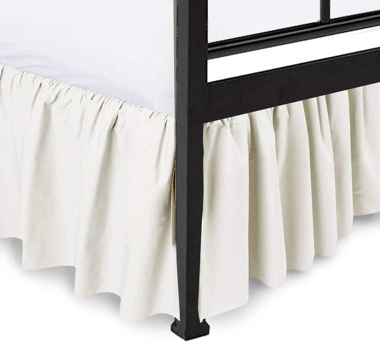 Popularity Split Corners Fashionable Dust Ruffled Bed Skirt Platform Sided C Three with