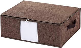 Pliable Boîte de rangement avec couvercle, vêtements en tissu sac de rangement avec poignée, plat grande capacité de stock...
