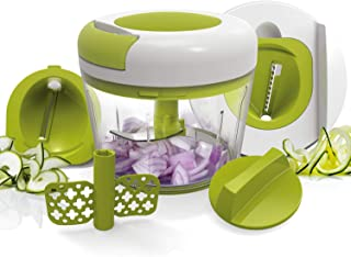 Vegetable Chopper Fun Life Onion Chopper Slicer Food Chopper with Manual Hand PULL Mincer Mixer For Fruits, Vegetable,Garlics,Onions and so on.