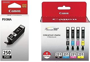 Genuine Canon PGI-250 (6497B001) CLI-251 (6513B004) Color...